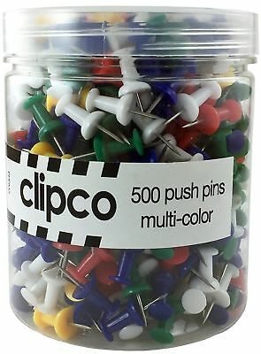 Red Clipco Push Pins Jar 200-Count