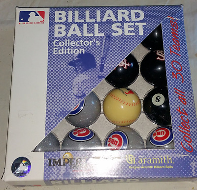 Chicago Cubs VS Chicago White Sox Baseball Collector's Edition Cue Billiard Set