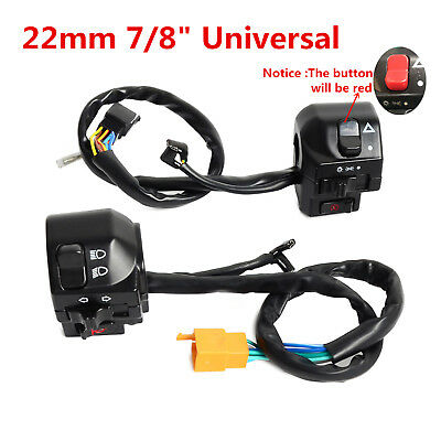 """Universal Motorcycle Switch  22mm 7/8"""" Handle Bar Switch Gear Control Switch"""