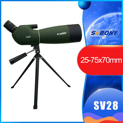 New 25-75x70mm Angled Zoom Spotting Scope Waterproof+Tripod+Cellphone Adapter AU