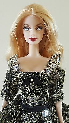 Barbie doll DOTW Russia redressed w/OOAK princess ball gown, blonde Mackie face
