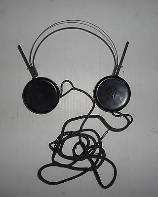 Brandes Superior Matched Tone HEADPHONES Tested Working Vtg bakelite steampunk