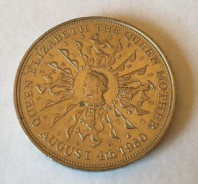 1980 Commemorative Coin Queen Mother 80th Birthday August 4th