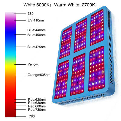 10W-3000W LED Grow Light Full Spectrum Hydro Veg Flower Indoor Plant Lamp IR&UV