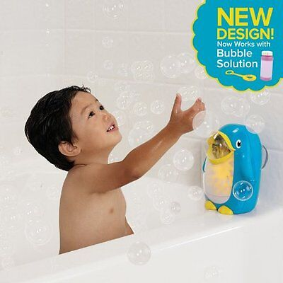 Baby Bath Fun Toy Bathing Gift Penguin Bubble Blower Maker Toddler Kids Activity