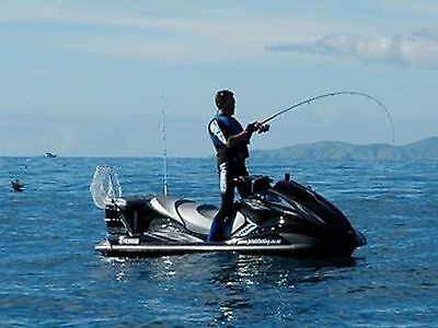 JETSKI WATER SCOOTER FISHING ROD & REEL Portable lightweight carbon Fibre Wrap