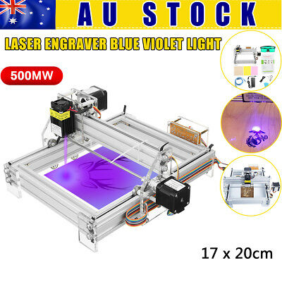 500mw 17*20cm CNC Laser Engraving Machine Logo Printer Cutter Engraver Cutting