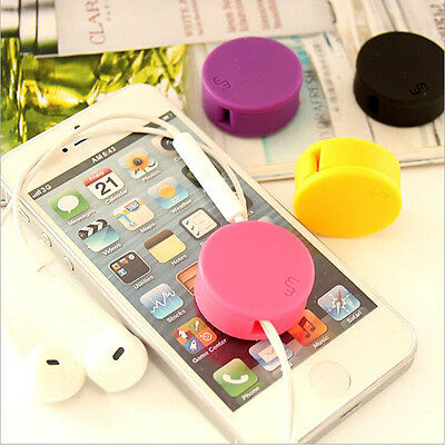 1Pcs Earphone Cord Winder Wrap Organizer Cable Ties Cute Mini Candy Hot