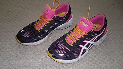 Asics Gel DS Trainer 19 Ladies Running Shoes-Size 8-Black-Pink-Size 39.5