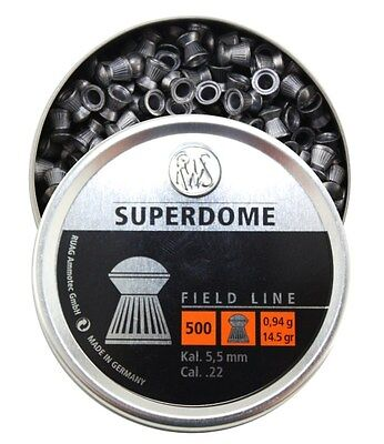 RWS SuperDome 22 Airgun Pellets .22 5.5mm in 50, 100, 500 Hunting/Pest