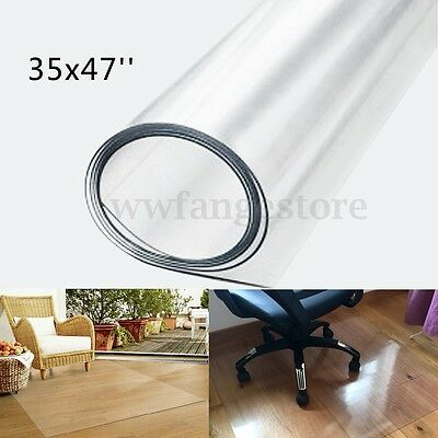 120x90cm Waterproof Home Office Floor Chair Protector Pad Mat Anti-Skid Clear