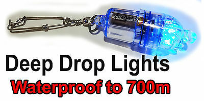 WHITE Deep Drop LED Fishing Light. 700M Deep Sea Light. BlueEye, Harpuka, Swords
