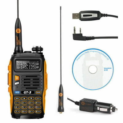 Baofeng GT-3 Mark II 136-147/400-520 Ham Two-way Radio + USB Cable + Car Charger