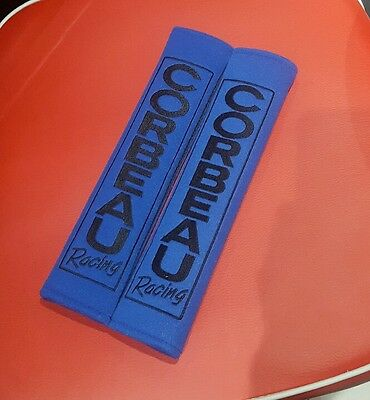 "Corbeau Harness Race Pad For All Seat Belts & 3"" Rally Harness Straps - Blue"