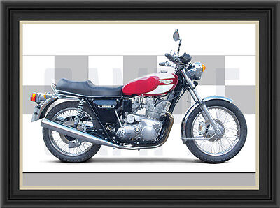 Triumph T160 Motorcycle Print /  Motorcycle Poster