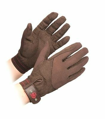 Shires Adults Gatcombe Lightweight Gloves- Black/ Brown, XS-XL 871