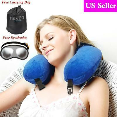 NAVEO Memory Foam U Shaped Travel Pillow Air Bus Car Seat Head Neck Support USA