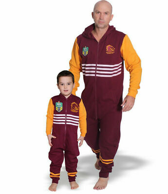 Brisbane Broncos NRL Footy Suit Bodysuit Jersey Adult & Kids Sizes! BNWT's