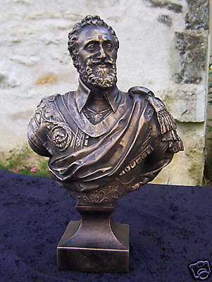 Buste Henri IV roi de France Royalisme reproduction artisanale finition bronze