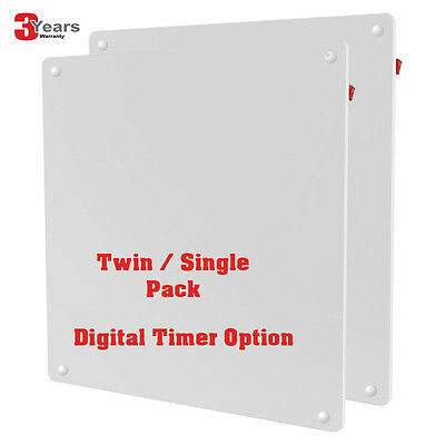 Twin / Single Pack 425W ECO Wall Panel Heater Printable Digital Timer New