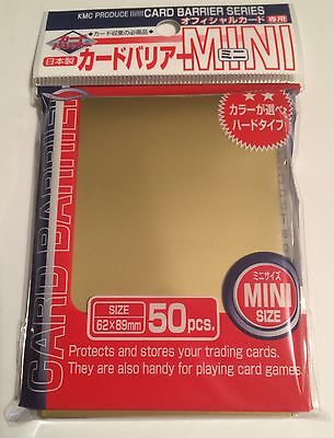 KMC Mini GOLD Card Sleeves - 50 pcs Card Barrier Series - Japanese - Small Size