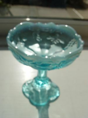 Vintage Northwood Blue Intaglio Opalescent GLASS Jelly Compote
