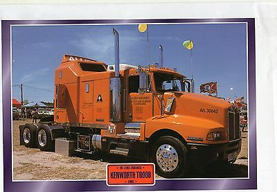 KENWORTH   T600B                 Glossy   Picture (T593)