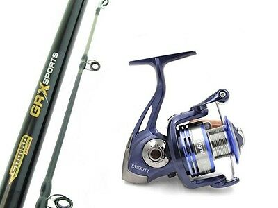 SAMBO GRX SPORTS 15kg 6'6 Boat Spinning Fishing Rod and Reel Combo Snapper