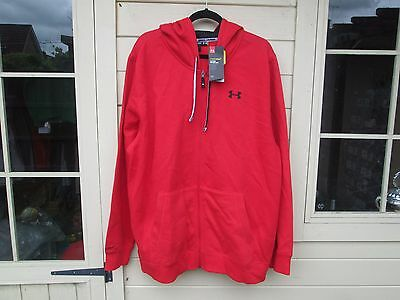 """Under Armour Storm Hoodie,Jacket  XX Large 48""""/50"""" Chest, Red, Full Zip Front,"""