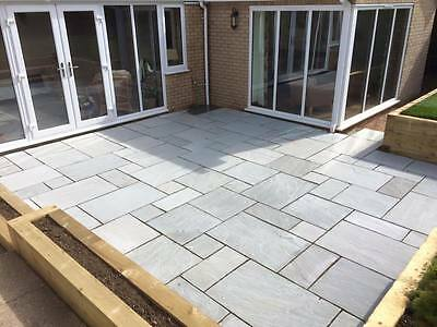 Indian Sandstone 20.70m2 Kandla Grey Paving Natural Slabs Patio Pack silver