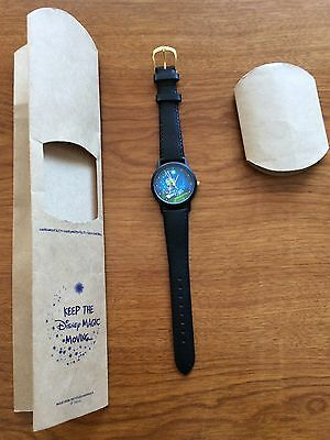 "DISNEY 1997 JIMINY CRICKET NIP "" ENVIRONMENTALITY WATCH ""   Leather strap"
