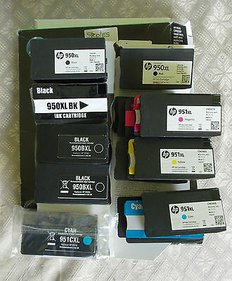 19x HP & Reman 364 950 951 InkJet Cartridges - One new some full, some near full