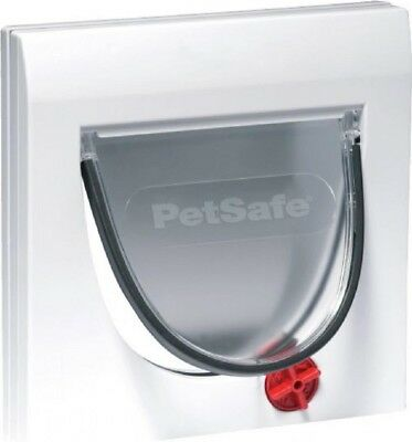 Petsafe Staywell Manual 4-Way Locking Classic Cat Flap Door & Tunnel | White