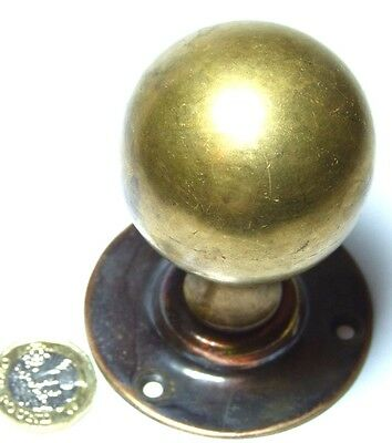 Quality Antique Brass Spherical Door Handle Knob With Coppered Backplate