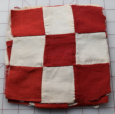9 1880 9 Patch, red and white, great for border!