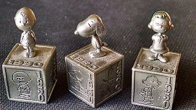 Hallmark Peanuts Gallery 5 Decades Pewter  - Charlie Brown, Snoopy and Lucy