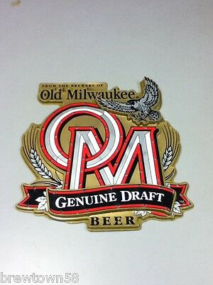 Old Milwaukee beer sign motion lighted chasing LED light 1991 wall display DI3