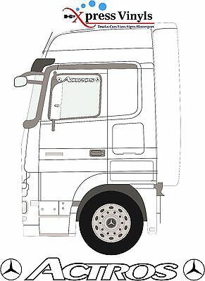 Mercedes Actros window top truck stickers/vinyl decals,
