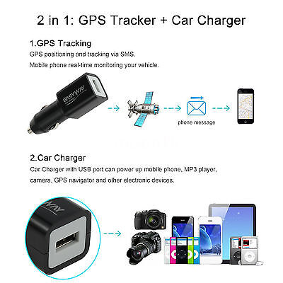 Real Time Spy GPS Tracker USB  Charger Style Global Locator GSM Tracking