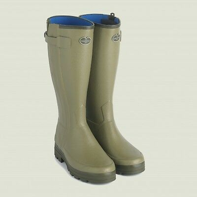 Le Chameau Chasseurnord Neo Lined Zip Welly - Size UK 10 EU 44 Calf 43cm