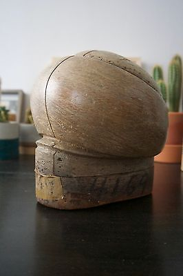 vintage antique puzzle wood hat block, puzzle mold, millinery form