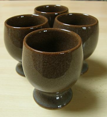 VINTAGE Denby Greystone set of four egg cups ~ Immaculate condition
