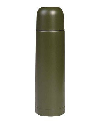 Vakuum Thermosflasche S/Steel 0,5l oliv, Outdoor, Camping, Military  -NEU-