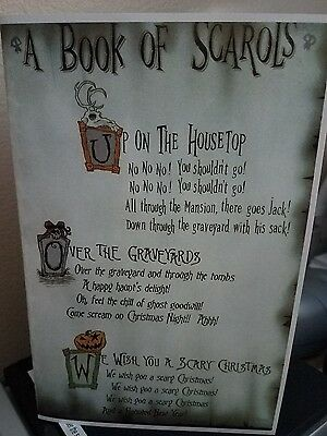Haunted Mansion Nightmare Before Christmas The Book Of Scarols