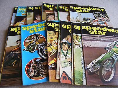 25 editions of Speedway Star magazine 1974 July-December