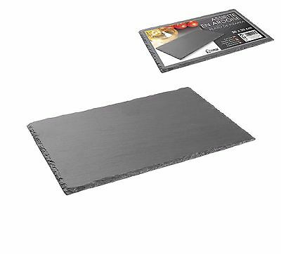 30 x 20cm GREY SLATE STONE PRESENTATION KITCHEN CHEESE BISCUIT PARTY PLATE BOARD