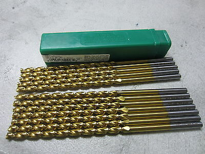 12 new PTD #6 Parabolic Long Taper Length Twist Drill Bits HSS TiN Coated #50906