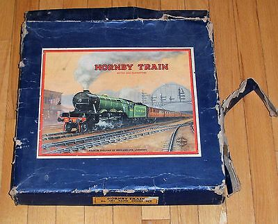 Hornby Train Model No. 201 Tank Goods Set With Box NOT COMPLETE Rare Track Parts