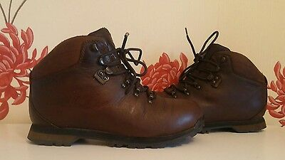 Brasher Hillwalker Gtx Gore-Tex Brown Leather Ladies Hiking Boots Size 7 Uk