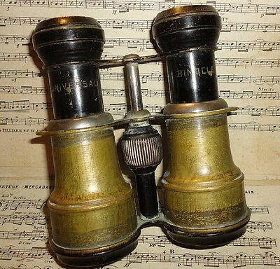 Rare Antique Vintage French Binoculars ~ Brass ~ UNIVERSAL BINOCLE Brand